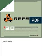 Reason 3.0 Operation Manual - English