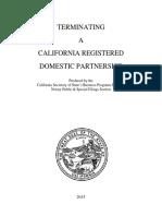 Terminating a Domestic Partnership