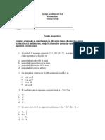 Ejercicios de matemática octavo