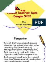 """Statistika Pendidikan """"Analisis Deskripsi"""""""
