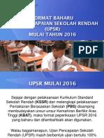 Format Baharu Upsr 2016