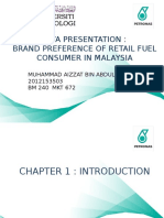 brand preference of retail fuel consumer in malaysia