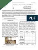 A Study of Cost Comparison of Precast Concrete vs. Cast-In-Place