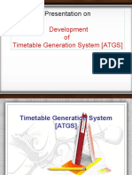 PPT on Automatic Timetable Generator