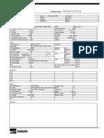Horizontal MultiStage Pump Data Sheet