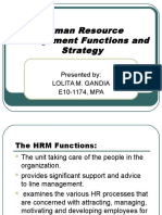 Hrfunctionsandstrategyppt