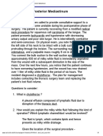 Clinical Case - Posterior Mediastinum