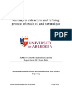 Mercury in Extraction and Refining Process of Crude Oil and Natural Gas