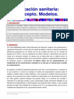 01. Educación Sanitaria. Concepto. Modelos.