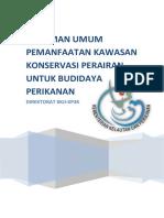 Pedoman Pemanfaatan Kawasan Konservasi Untuk Budidaya Perikanan