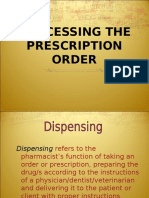 Processing the Prescription(1)