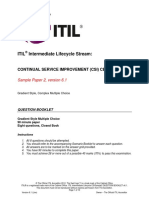 Itil Csi Sample Paper2 v6 1