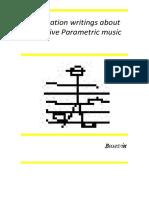 Divulgation Writings About Cognitive Parametric Music