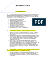 Strategic Management Qst & Ans
