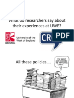 What UWE Researchers Say