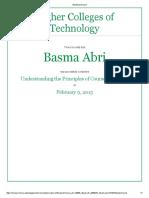 basma abdulla understanding the principles of course design