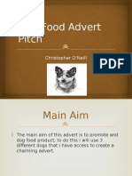 dog food advert pitch