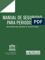 Manual de Seguridad Para Periodistas. Reporteros Sin Fronteras 2015