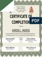 Sample Certificate2