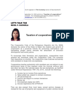 Taxation of Cooperatives