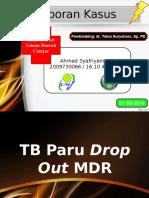 Lapkas TB Paru Drop Out MDR