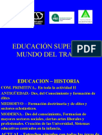 Educación Superior y Mundo Del Trabajo