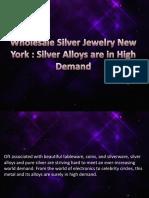 Wholesale Silver Jewelry New York