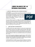 Resumen de Libro Blanco de la defensa