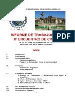 2015 Cimas 8º Fascreaa 4º Informe de Trabajos