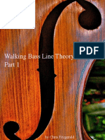 Walking Bass Line Theory Basics