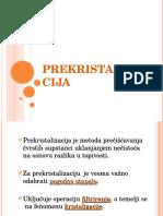 Prekristalizacija
