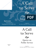 A Call to Serve - Quotes on Public Service
