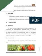 III Determinacion de Madurez Fisiologica y de Consumo