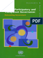 Toward Transparent Governance Reinventing the Government