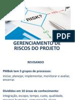 Gerenciamento de Riscos - Prof Antonio Prais