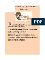 december 15 and 16 2015 agenda take summative test unit 2