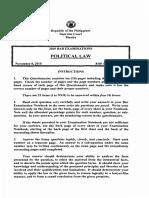 Political Law 2015