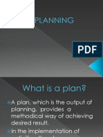 (4) Nature of Planning