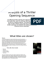 Analysis of a Thriller Opening Sequence