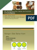Fitofarmaka & Sediaan Obat