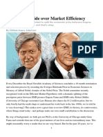 The Great Divide Over Market Efficiency