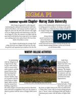 2015 Fall Undergraduate Newletter