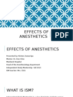 effects of anesthetics