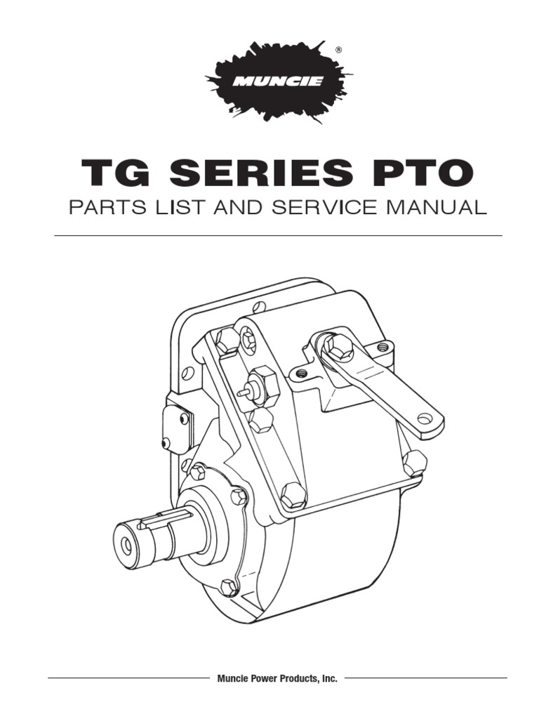 Manual De Partes Pto Muncie Tg Series