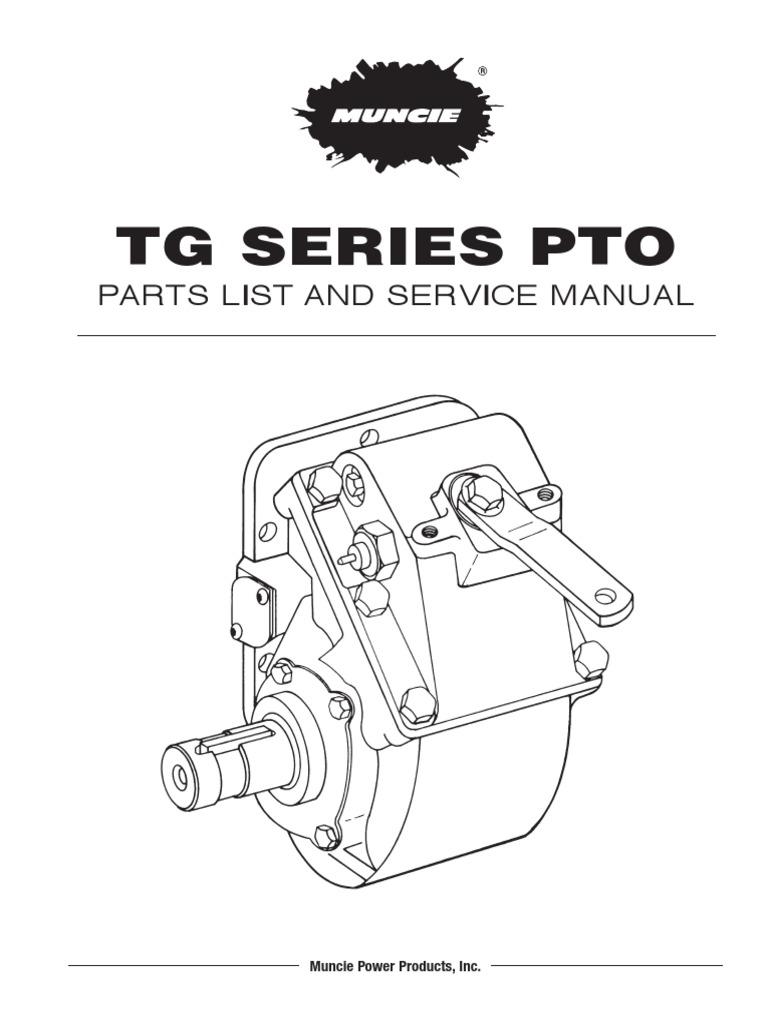 manual de partes pto muncie tg series manual. Black Bedroom Furniture Sets. Home Design Ideas