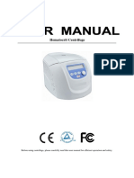 12300201_Hematocrit Centrifuge User Manual_中性英文