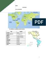 Geografia 7º Ano Países e Capitais