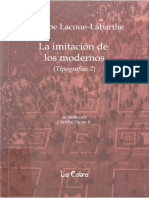 Lacoue Labarthe Philippe - La Imitacion de Los Modernos