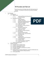 CTD Procedure and Task Lis
