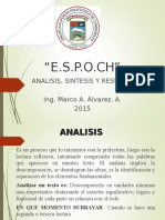3.2 Analisis, Sintesis y Resumen